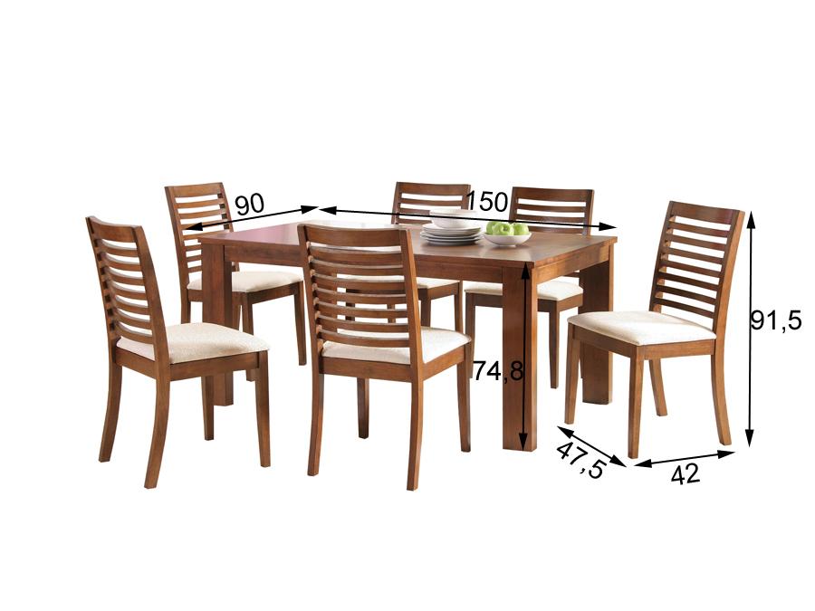 Söögilauakomplekt Togo 6-tooliga