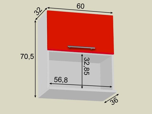 Seinakapp mikrolaineahjule (laius 60cm)