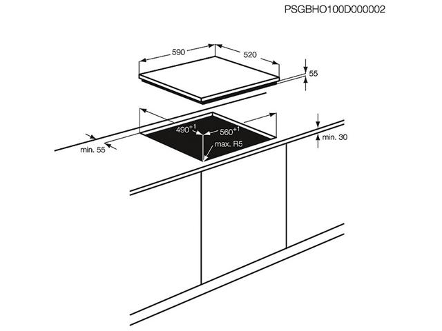 Integreeritav pliidiplaat Electrolux EGD6576NOK