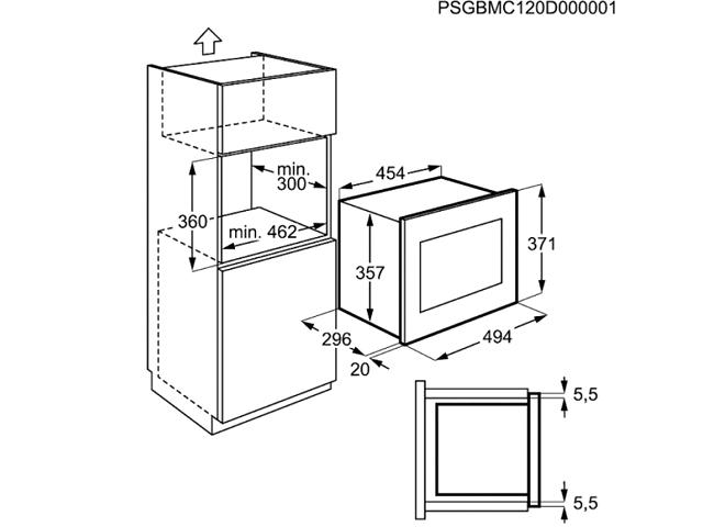 Integreeritav mikrolaineahi Electrolux EMS17006OX