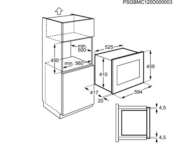 Integreeritav mikrolaineahi Electrolux EMS26204OX