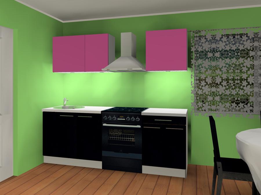 Värvitud ustega köök KAISA 1mini