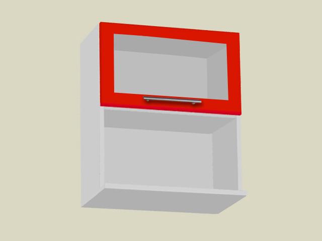 Klaasuksega seinakapp mikrolaineahjule (laius 60cm)