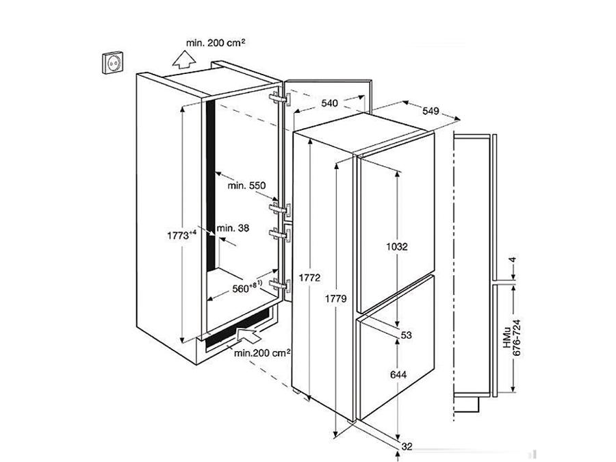 Integreeritav külmik Electrolux ENN2853COW