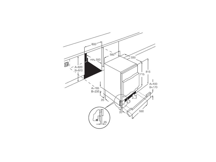 Integreeritav külmik Zanussi ZUA12420SA