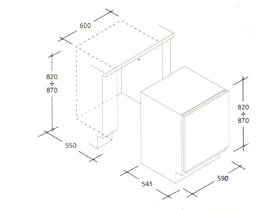 Integreeritav sügavkülmik Candy CFU135E