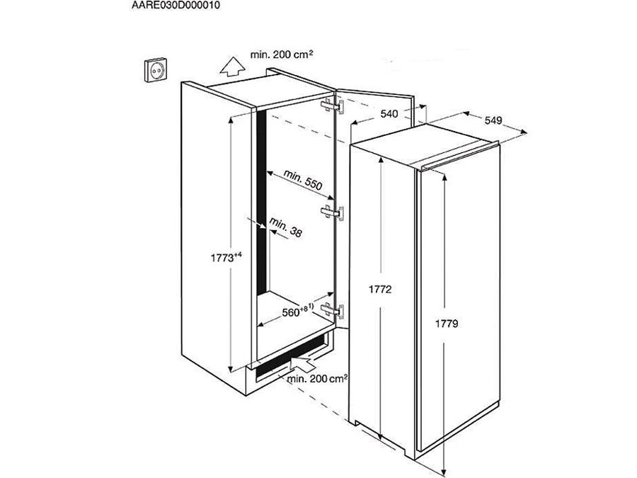 Integreeritav sügavkülmik Electrolux EUN2244AOW