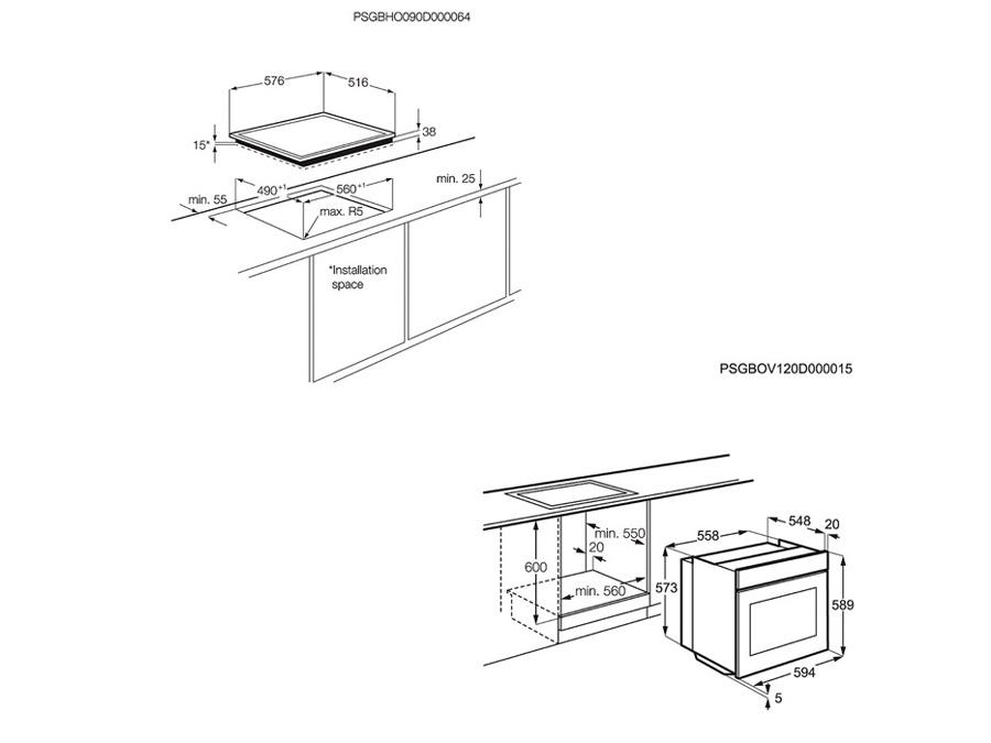 Ahi ja pliidiplaat Electrolux EOB43410OX + EHF6240XXK