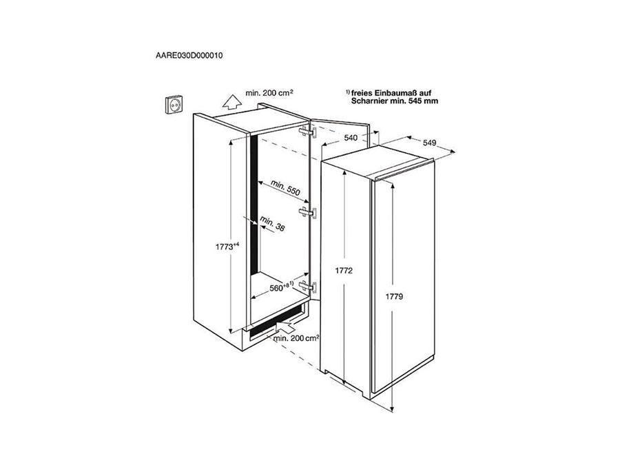 Integreeritav külmik Electrolux ERN3213AOW