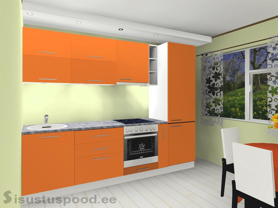 Värvitud ustega köök Liisa 2XP