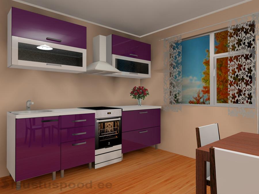 LUXE kõrgläikega köögimööbel Linda 1